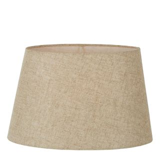 Linen Oval Lamp Shade XXL Dark Natural