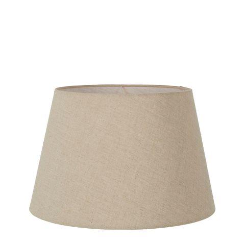 Medium Taper Lamp Shade (14x9x9.5 H) - Dark Natural Linen - Linen Lamp Shade with E27 Fixture
