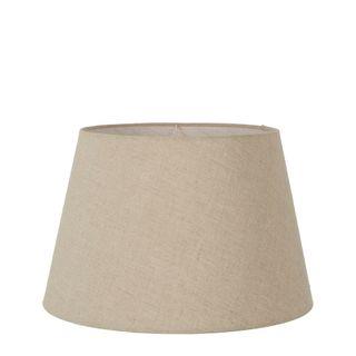 Linen Taper Lamp Shade Medium Dark Natural