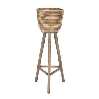 Rattan Standing Basket Bahama Grey