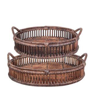 Trays Rattan Set of 2 Bahama Brown