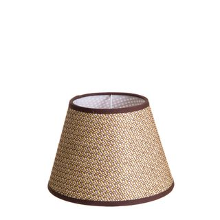 XS Taper Lamp Shade (10x6x7 H) - Brown - Basket Weave Lamp Shade with E27 Fixture