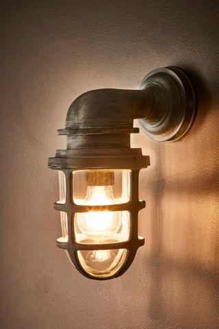 Porto Wall Lantern Old Iron Finish