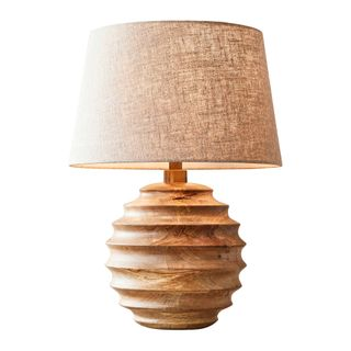 Flemington Small - Natural - Turned Wood Table Lamp Base Only