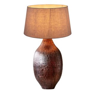 Dundee - Antique Copper - Hammered Metal Urn Table Lamp Base Only