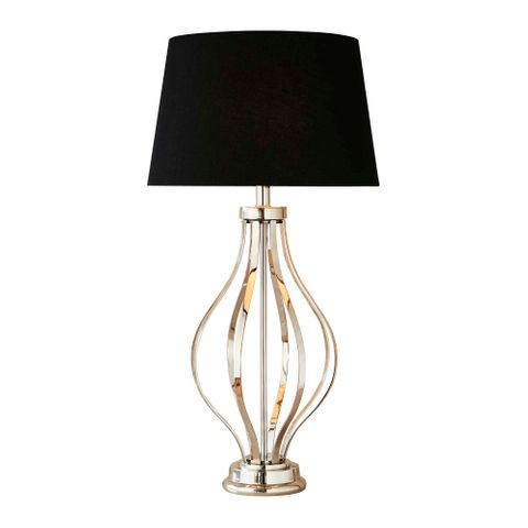 Adler table lamp base in nickel