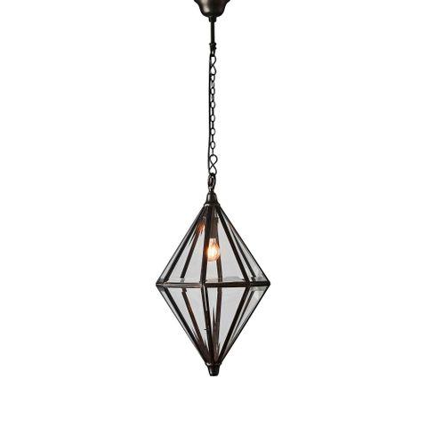 Clifftop hanging lamp in bronze