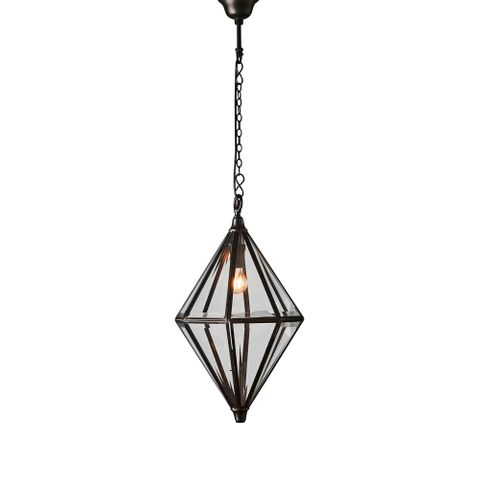 Clifftop hanging lamp in bronze