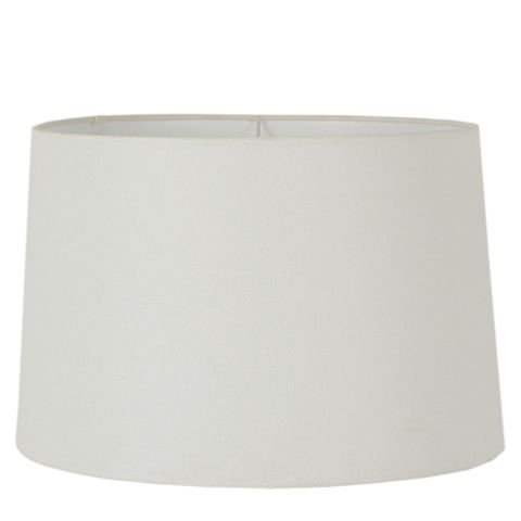 XXL Drum Lamp Shade (20x18x12 H) - Textured Ivory - Linen Lamp Shade with E27 Fixture