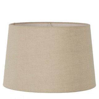 Linen Drum Lamp Shade XXL Dark Natural Linen