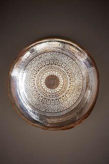 Moroccan Wall Lamp Silver