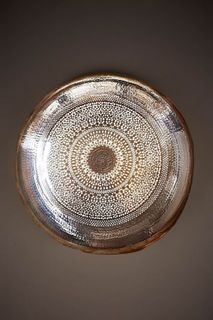 Moroccan Wall Light Silver