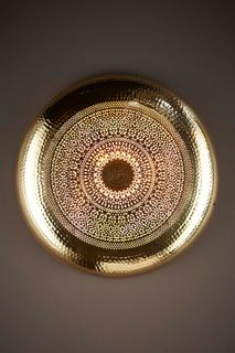 Moroccan Wall Lamp Brass