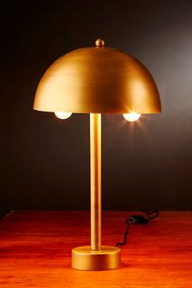Parker Table - Antique Gold - Contemporary Domed Metal Shade Table Lamp