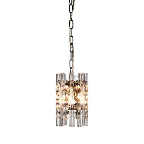 Monza hanging lamp in nickel