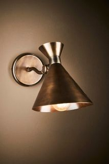 Lawson wall lamp in lantern brass