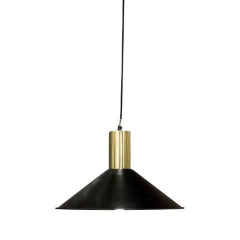 Redfern Hanging Lamp Black w Brass Top