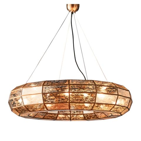 Victoria large hanging lamp in brass