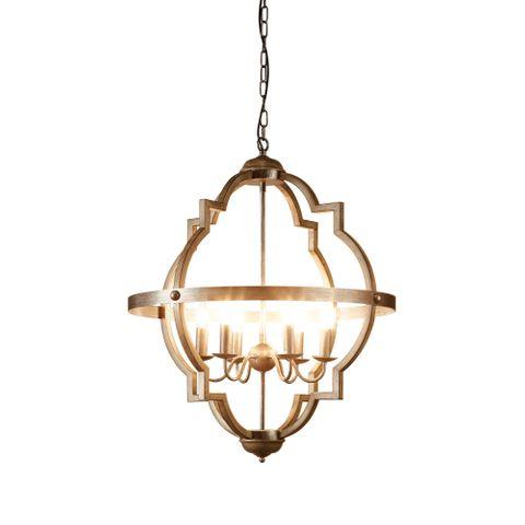 Hyatt Large Hanging Lamp in Grey Iron