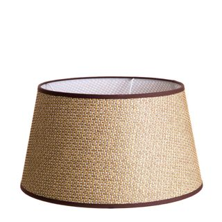 XL Taper Lamp Shade (18x14x10 H) - Brown - Basket Weave Lamp Shade with E27 Fixture