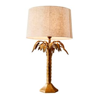 Rosebay table lamp antique brass