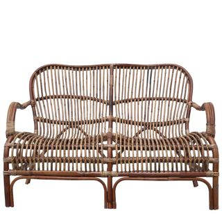 Seville Rattan Two Seater Antique