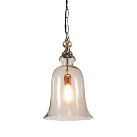 Tivoli Glass Overhead Lamp Large in Silver