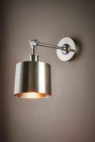 Portofino wall lamp in antique silver