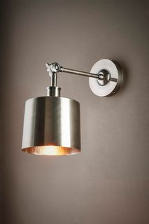 Portofino wall lamp in antique silver