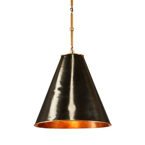 Monte Carlo Hanging Lamp Black Brass Inside