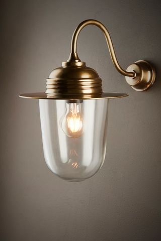Stanmore Outdoor Wall Lamp Antique Brass