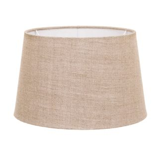 XS Drum Lamp Shade (10x8x7 H) - Dark Natural Linen - Linen Lamp Shade with E27 Fixture