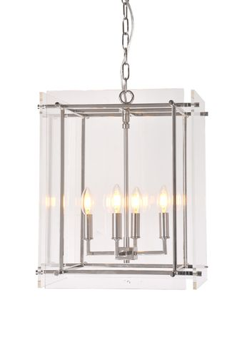 Duke hanging lamp in nickel
