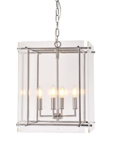 Duke hanging lamp in nickel