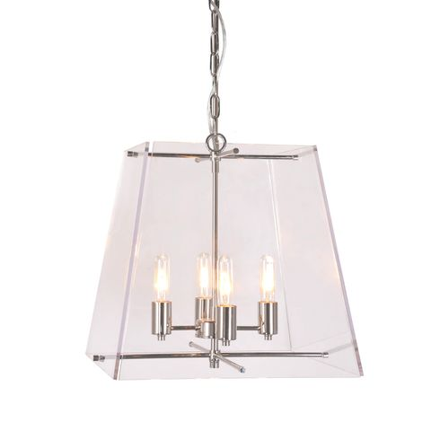 Vera hanging lamp in nickel