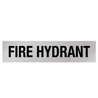 Fire Hydrant - Silver/Black 1.6mm Alum #