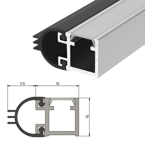 IS7080 Medium Duty Perimeter Seal - Long Single Door Set