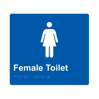 Braille Sign Female - Blue/White