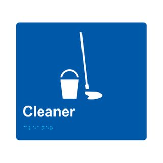 Braille Sign Cleaner - Blue/White