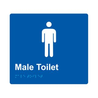 Braille Sign Male - Blue/White