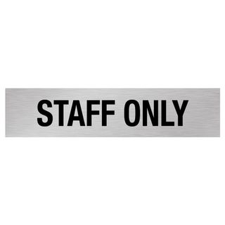 Staff Only - Silver/Black