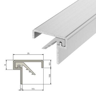 IS7060si Medium Duty Meeting Stile For Double Doors - 2750mm