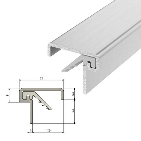 IS7060si Medium Duty Meeting Stile For Double Doors - 2250mm