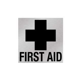 First Aid Sign And Cross - Silver/Black