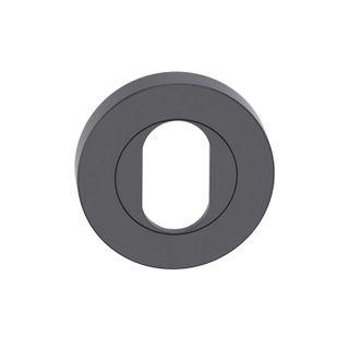 Round Cylinder Escutcheon MBLK