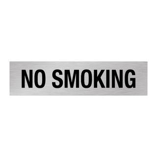 No Smoking - Silver/Black 1.6mm Alum #