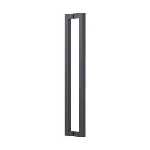 Square Section Back To Back 25mm x 625mm O/A x 600mm CTC x 60mmH Matte Black