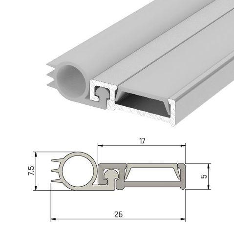 IS7025si Slimline Door Perimeter Seal Fire Rated - Long Single Door Set