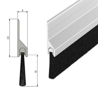 IS5115 Heavy Duty Sweep Action Brush Seal - 19mm - 1000mm