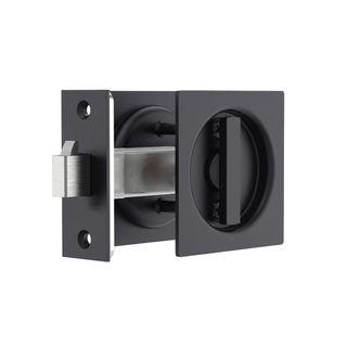 Square Sliding Door Privacy Lock MBLK